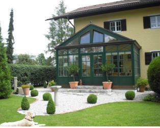 Holzwintergarten im viktorianischen Stil